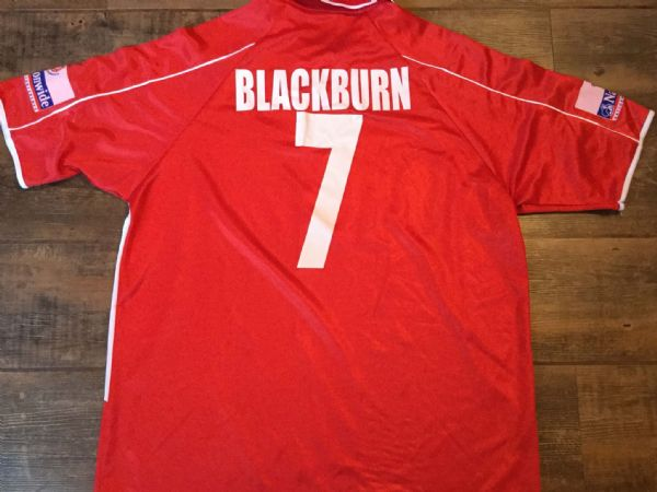 2002 2003 Chester City FC Match Worn Away Football Shirt Top Chris Blackburn XXL